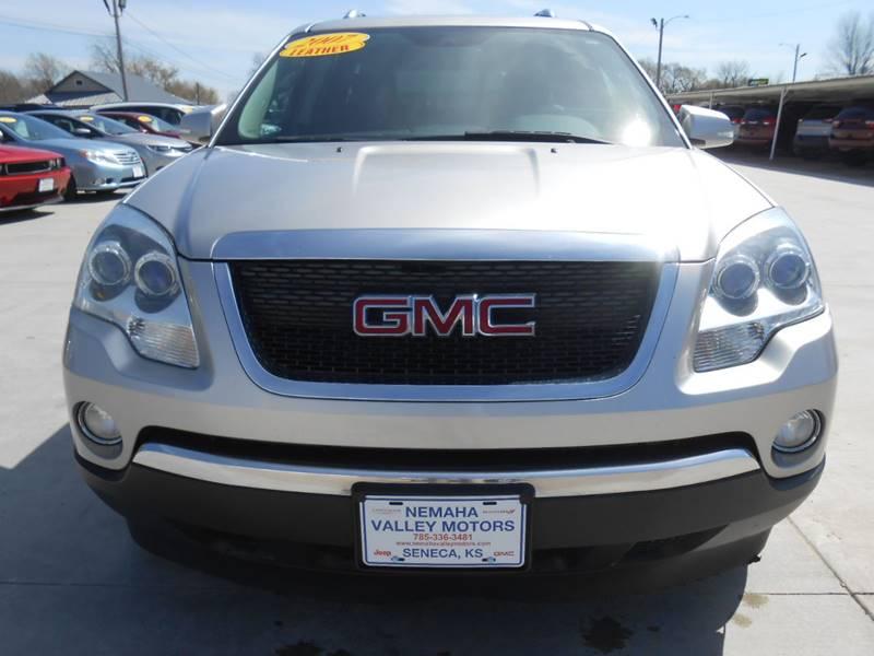 2007 GMC Acadia for sale at Nemaha Valley Motors in Seneca KS