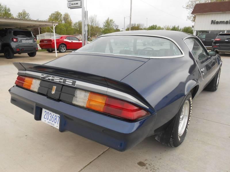 1979 Chevrolet Camaro for sale at Nemaha Valley Motors in Seneca KS