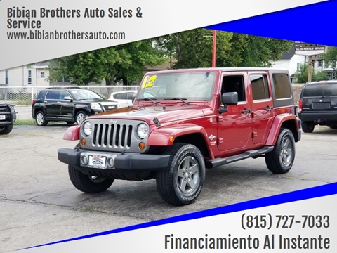 2012 Jeep Wrangler Unlimited for sale at Bibian Brothers Auto Sales & Service in Joliet IL