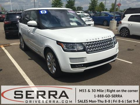 2016 Land Rover Range Rover for sale in Washington, MI