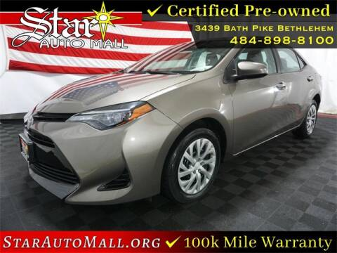 2017 Toyota Corolla for sale at STAR AUTO MALL 512 in Bethlehem PA
