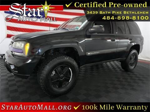 2004 Chevrolet TrailBlazer for sale at STAR AUTO MALL 512 in Bethlehem PA