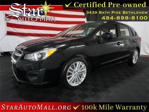 2013 Subaru Impreza for sale at STAR AUTO MALL 512 in Bethlehem PA