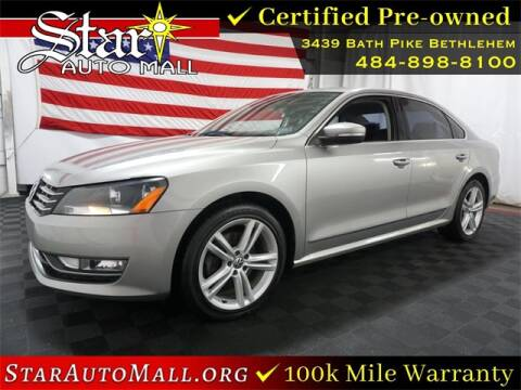 2013 Volkswagen Passat for sale at STAR AUTO MALL 512 in Bethlehem PA