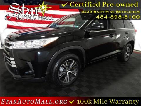 2017 Toyota Highlander for sale at STAR AUTO MALL 512 in Bethlehem PA