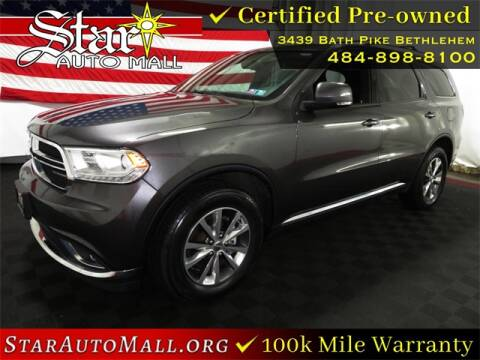 2016 Dodge Durango for sale at STAR AUTO MALL 512 in Bethlehem PA