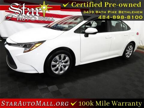 2020 Toyota Corolla for sale at STAR AUTO MALL 512 in Bethlehem PA