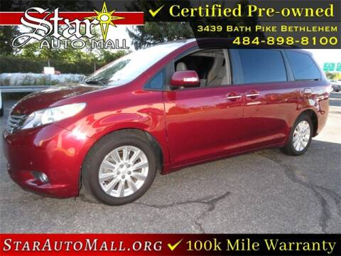 2014 Toyota Sienna for sale at STAR AUTO MALL 512 in Bethlehem PA
