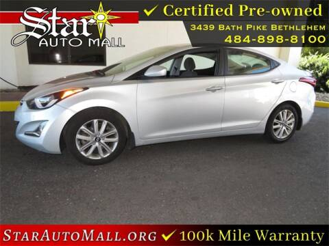 2015 Hyundai Elantra for sale at STAR AUTO MALL 512 in Bethlehem PA