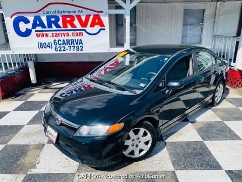 2008 Honda Civic LX for sale at CARRVA in Richmond VA