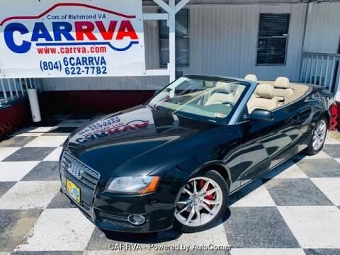 2011 Audi A5 2.0T Premium for sale at CARRVA in Richmond VA
