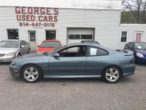2006 Pontiac GTO for sale in Orbisonia, PA