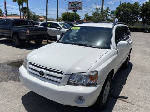 2006 Toyota Highlander for sale at BC Motors in West Palm Beach FL
