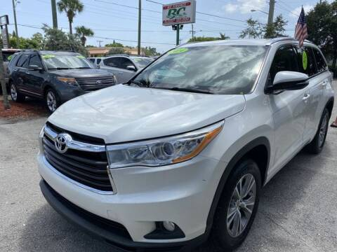 2014 Toyota Highlander for sale at BC Motors in West Palm Beach FL