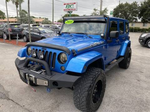2014 Jeep Wrangler Unlimited for sale at BC Motors in West Palm Beach FL