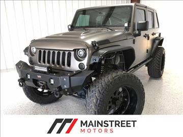 2016 Jeep Wrangler Unlimited for sale at Mainstreet Motors in Frisco TX
