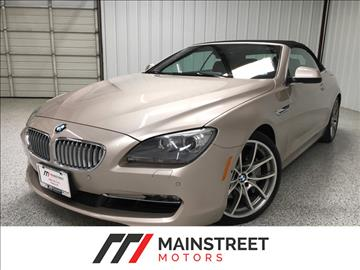 2012 BMW 6 Series for sale at Mainstreet Motors in Frisco TX