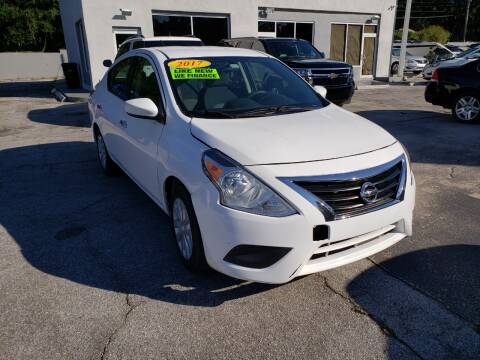 2017 Nissan Versa for sale at M and M Motors of Tampa LLC in Tampa FL
