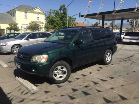 2001 Toyota Highlander for sale in Redlands, CA