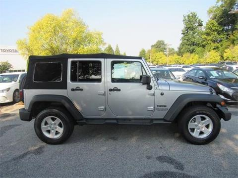 2016 Jeep Wrangler Unlimited for sale in Norcross, GA