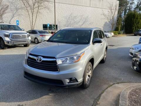 2015 Toyota Highlander XLE for sale at Credit Union CarFinders in Norcross GA