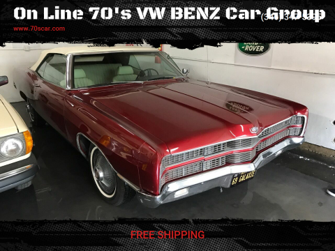 1969 Ford Galaxie XL 390 for sale at On Line 70's VW BENZ Car Group in Warehouse CA