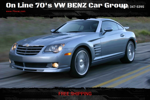 2005 Chrysler Crossfire SRT-6 for sale at On Line VW BENZ 70'sCar Group in Warehouse CA