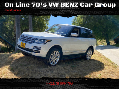2017 Land Rover Range Rover for sale at On Line VW BENZ 70'sCar Group in Warehouse CA