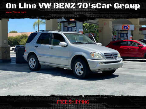 2004 Mercedes-Benz M-Class for sale at On Line VW BENZ 70'sCar Group in Warehouse CA