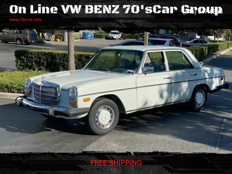1975 Mercedes-Benz 240-Class for sale at On Line VW BENZ 70'sCar Group in Warehouse CA