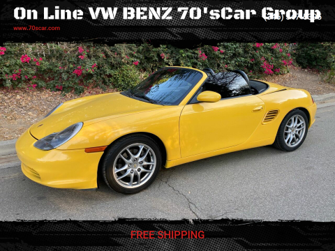 2003 Porsche Boxster for sale at On Line VW BENZ 70'sCar Group in Warehouse CA