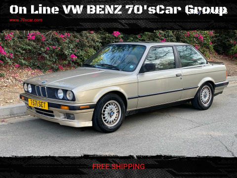 1989 BMW 3 Series for sale at On Line VW BENZ 70'sCar Group in Warehouse CA