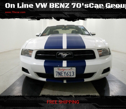 2010 Ford Mustang for sale at On Line VW BENZ 70'sCar Group in Warehouse CA