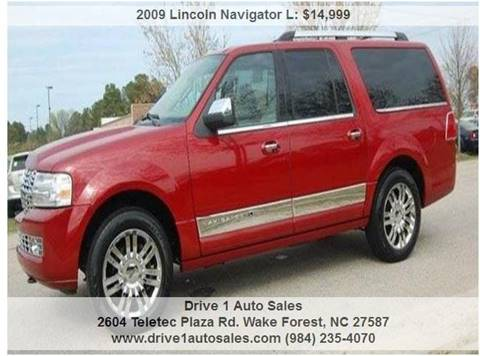 2009 Lincoln Navigator L for sale at Drive 1 Auto Sales in Wake Forest NC
