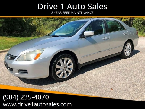 2007 Honda Accord for sale at Drive 1 Auto Sales in Wake Forest NC