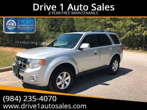 2012 Ford Escape for sale at Drive 1 Auto Sales in Wake Forest NC