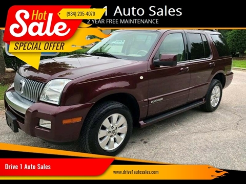 2008 Mercury Mountaineer for sale at Drive 1 Auto Sales in Wake Forest NC