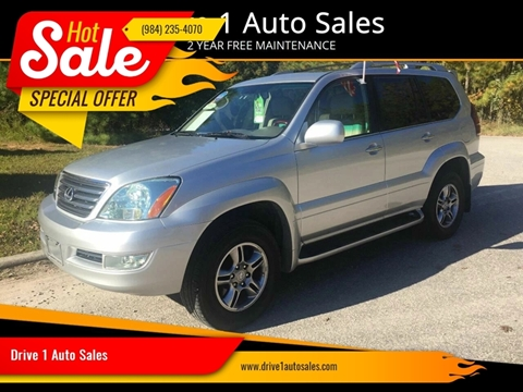 2008 Lexus GX 470 for sale at Drive 1 Auto Sales in Wake Forest NC