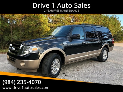 2012 Ford Expedition EL for sale at Drive 1 Auto Sales in Wake Forest NC
