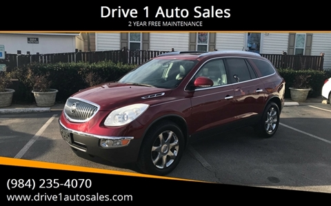 2010 Buick Enclave for sale at Drive 1 Auto Sales in Wake Forest NC