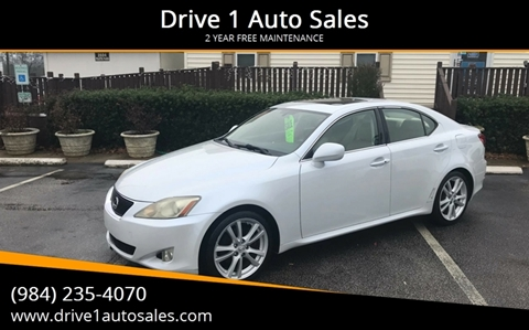 2006 Lexus IS 250 for sale at Drive 1 Auto Sales in Wake Forest NC