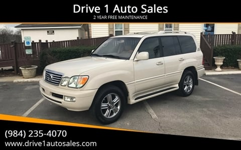 2006 Lexus LX 470 for sale at Drive 1 Auto Sales in Wake Forest NC