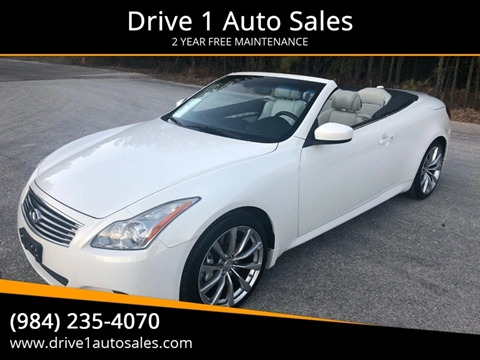 2009 Infiniti G37 Convertible for sale at Drive 1 Auto Sales in Wake Forest NC
