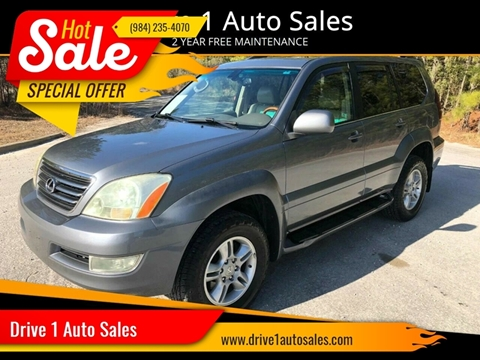 2005 Lexus GX 470 for sale at Drive 1 Auto Sales in Wake Forest NC