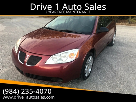 2008 Pontiac G6 for sale at Drive 1 Auto Sales in Wake Forest NC