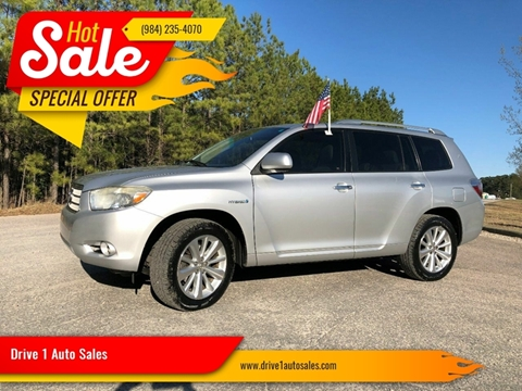 2008 Toyota Highlander Hybrid for sale at Drive 1 Auto Sales in Wake Forest NC