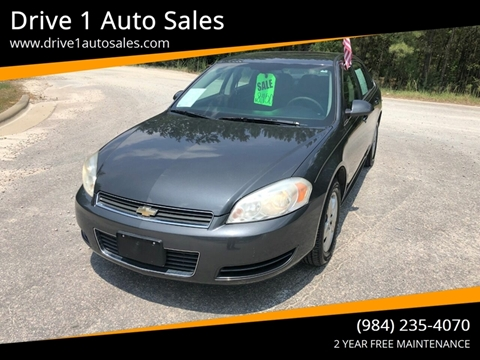 2010 Chevrolet Impala for sale at Drive 1 Auto Sales in Wake Forest NC