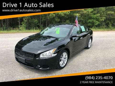 2011 Nissan Maxima for sale at Drive 1 Auto Sales in Wake Forest NC