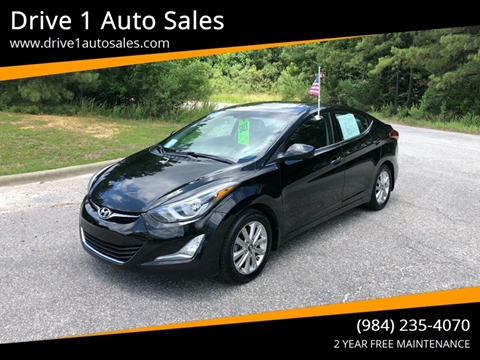 2015 Hyundai Elantra for sale at Drive 1 Auto Sales in Wake Forest NC