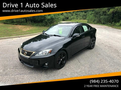 2012 Lexus IS 250 for sale at Drive 1 Auto Sales in Wake Forest NC